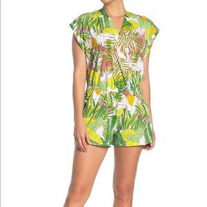 NWT Trina Turk Kimono Sleeve Romper Size L